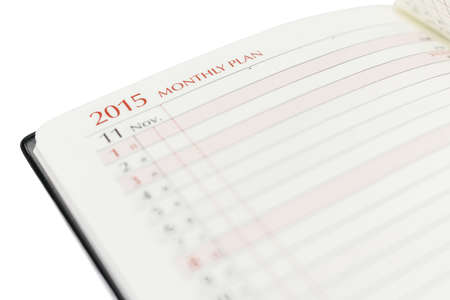 appointed: Monthly plan 2015, November, Notebook Check list.