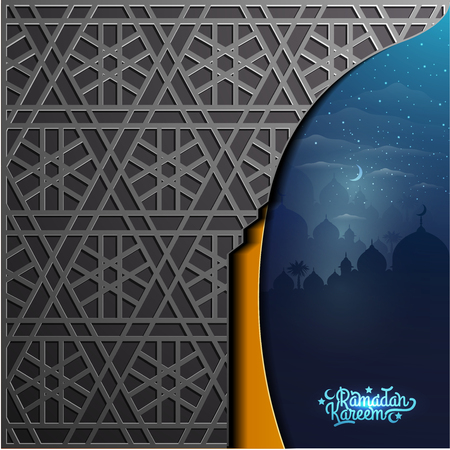 Ramadan Kareem with beautiful arabic calligraphy for greeting card and background. translation of text :  Allah, indeed you are very forgiving, forgive our sins