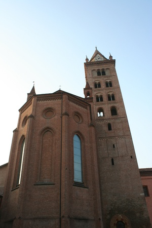 View Of San Lorenzo Cathedral (Alba , Piemonte Italy)