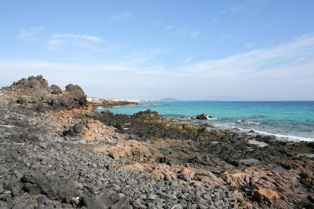 View of Fuerteventura Volcanic Coast(Canarias, Fuerteventura, Spain)