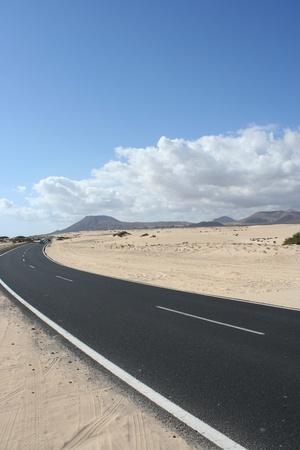 View of fuerteventura Road ( Fuerteventura, Canary Islands, Spain)