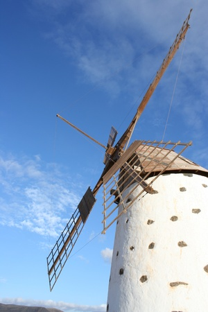 View of  Ancient Windmill ( Fuerteventura, Canary Islands, Stock Photo
