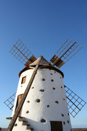 View of Fuerteventura Ancient Windmill ( Fuerteventura, Canary Islands,View of Fuerteventura Ancient Windmill ( Fuerteventura, Canary Islands, Stock Photo