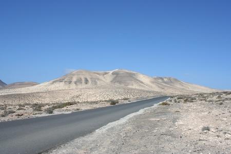 View of Fuerteventura Road ( Fuerteventura, Canary Islands, Spain) photo