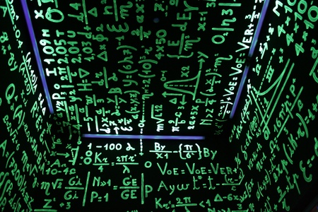 Numbers and Formulas Stock Photo