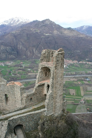 impervious: Ruins of San Michele Abbey, Called Sacra di San Michele  Val Di Susa Piemonte Italy