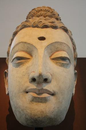 recline: Asian statue, recline buddha image Stock Photo