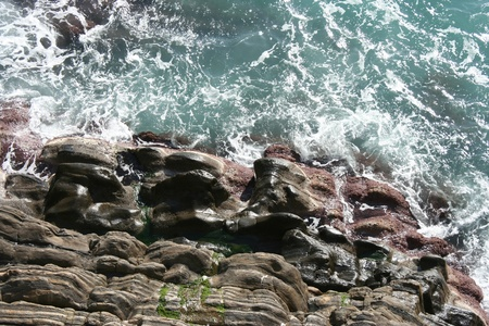 View of Cinque Terre cost  Italy  photo