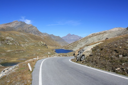 The Road to the Lake of col Nivolet  Gran Paradiso National Park Italy  Stock Photo