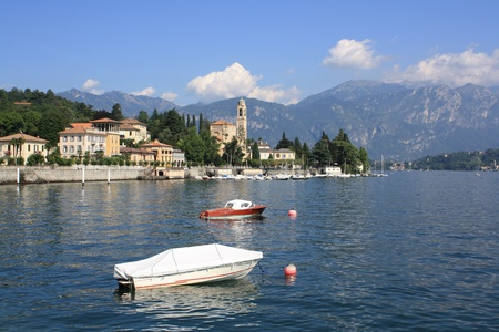 Boats on Lake Como in northern Italy photo