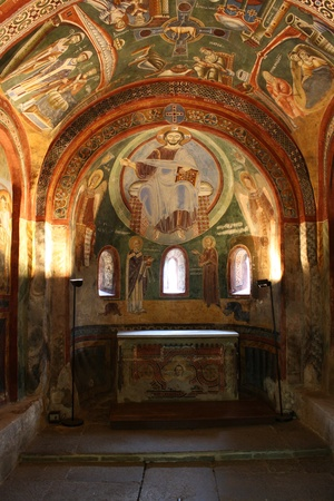 Fresco of Sant Eldrado Chapel  Novalesa Abbey Italy  Stock Photo - 13744960