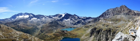 Panoramic View of Gran Paradiso National Park photographed by col Nivolet ( Italy )