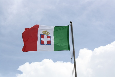 bardonecchia: Close up of Flag Of Kingdom Of Italy  Bardonecchia Piemonte
