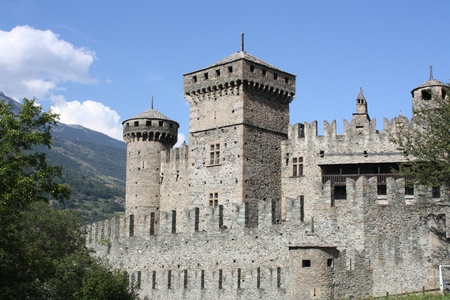 The Fenis Castle, Aosta,Italy  Editorial