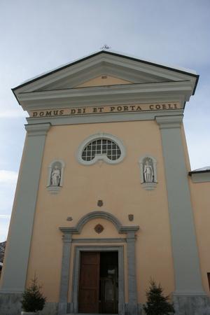 bardonecchia: View of San Ippolito Chapel  Bardonecchia, Piemonte Italy