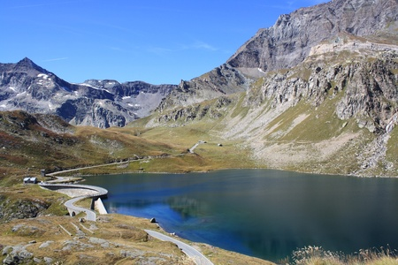 View of Gran Paradiso National Park photographed by col Nivolet   Italy