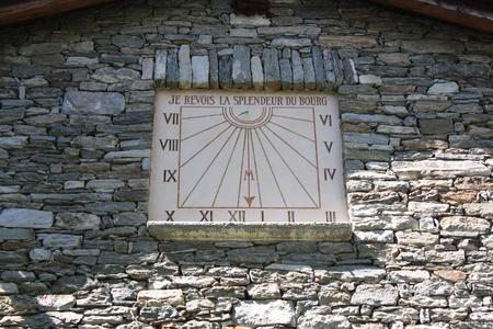 Ancient Sundial  Aosta Valley  photo
