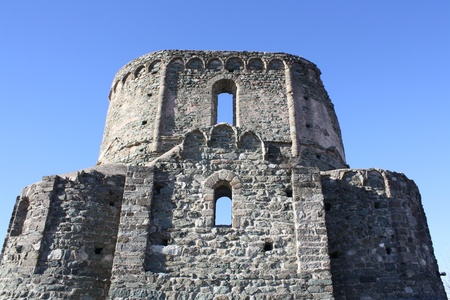 impervious: View of ruins of an old Roman Church  San Michele Abbey, Piemonte Italy