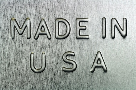 Made in USA Engraved on Steel Stock Photo - 15325757