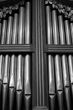 Old Organ in Staffarda Abbey   Italy Piemonte   photo