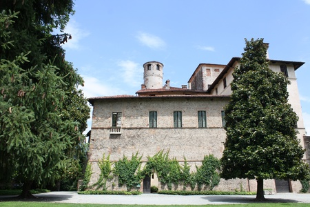 impervious: Picture of Manta castle  Cuneo Piemonte Italy  Editorial