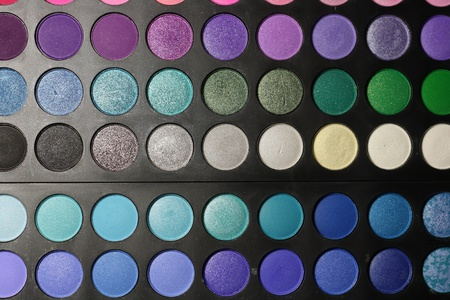 Make-up palette close-up Stock Photo