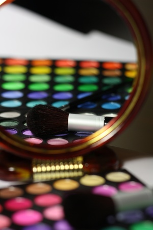 Make-up palette close-up Stock Photo - 15407401