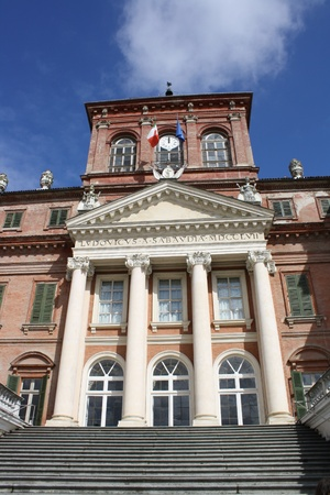 racconigi: View of the Racconigi castle  Italy, Piemonte