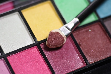 Make-up palette close-up Stock Photo - 15412115