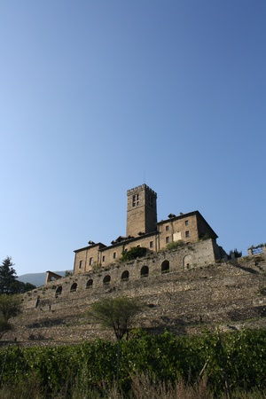 impervious: View of Sarre Castle  Aosta valley, Italy
