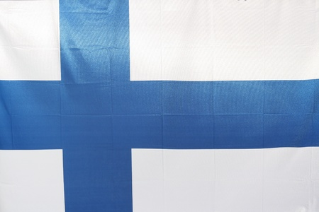 The national flag of Finland Stock Photo - 15446028