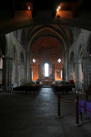 impervious: Interior View of San Michele Abbey, Called Sacra di San Michele  Val Di Susa Piemonte Italy