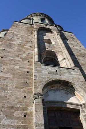 abbazia: Picture of San Michele Abbey  Val Di Susa Piemonte Italy  Stock Photo