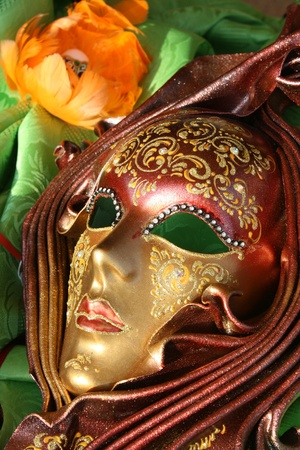 Traditional carnival mask from Italy photo