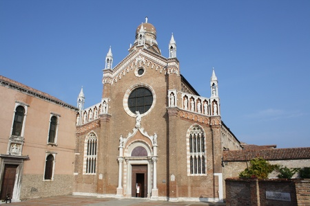 Madonna Dell Orto Church  Venice Italy  photo