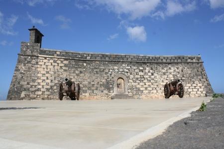 impervious: View of Castillo de San Gabriel in Arrecife  Lanzarote Canary Islands Spain  Editorial