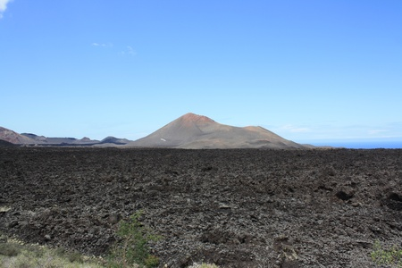 Volcano Landscape on the Island of Lanzarote   Canary Islands Spain