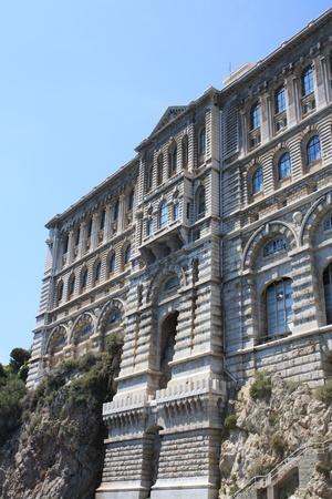 oceanographic: The building of the Oceanographic Museum of marine science in Monaco