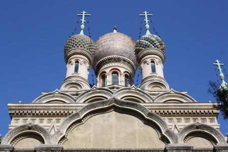 sanremo: Russian Church in Sanremo on the Italian Riveria   San Remo Italy