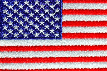 made in usa: Closeup of the American Flag
