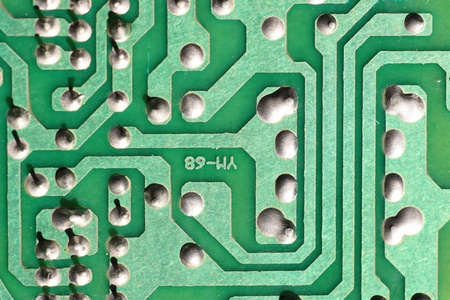 Closeup photo of electronic circuit board photo