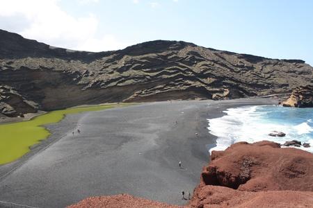 A view of Playa del Lago Verde  Charco de Los Clicos, Lanzarote Island