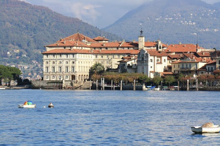 View of Isola Bella on Lago Maggiore in northern Italy