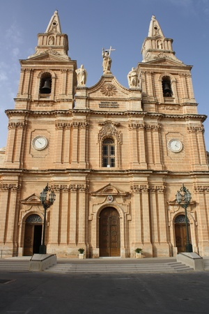 View Of Maria Bambina Church   Mellieha Malta   photo