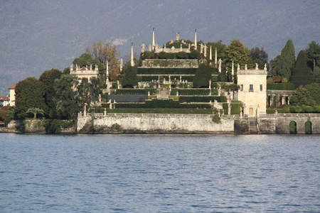 View of Isola Bella on Lago Maggiore in northern Italy photo