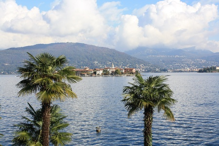 View of Lago Maggiore in northern Italy photo