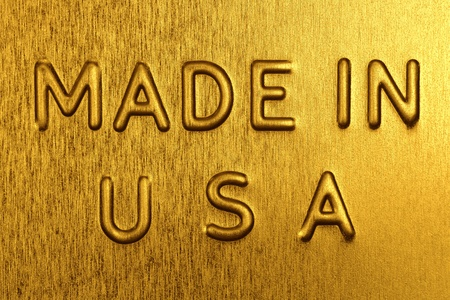 Made in USA Engraved on a Golden Background