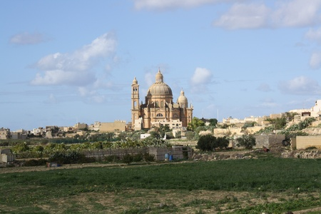 View Of St John the Baptist Church, Gozo Island  Xewkija, Malta   photo