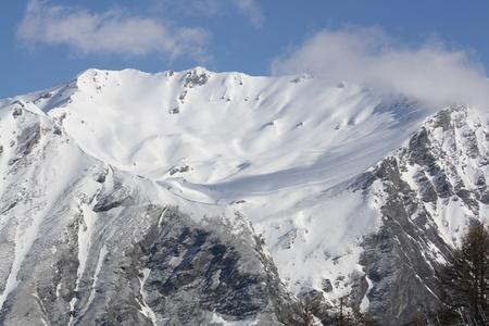 bardonecchia: View of Susa Valley mountains   Bardonecchia Italy   Stock Photo