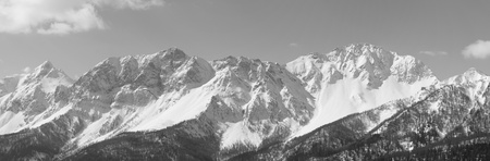 bardonecchia: Panoramic View of Susa Valley in winter   Bardonecchia Italy   Stock Photo